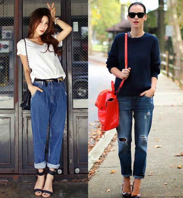 Phối jeans rộng theo từng hoàn cảnh - 2
