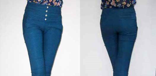 Quần jeans cạp cao cho bạn nữ năng động dạo phố mùa lạnh - 2