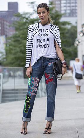 Cá tính với những chiếc quần jeans chắp vá - 2