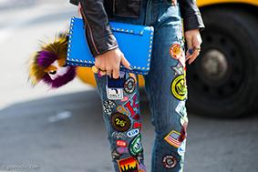 Cá tính với những chiếc quần jeans chắp vá - 7