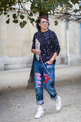 Cá tính với những chiếc quần jeans chắp vá - 11