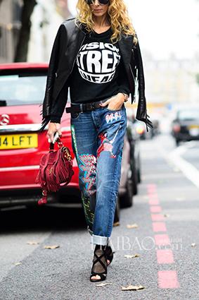 Cá tính với những chiếc quần jeans chắp vá - 12