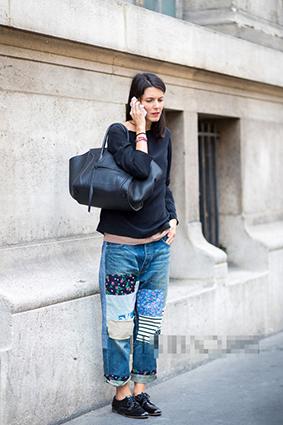 Cá tính với những chiếc quần jeans chắp vá - 4