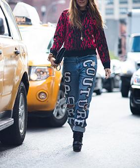 Cá tính với những chiếc quần jeans chắp vá - 8