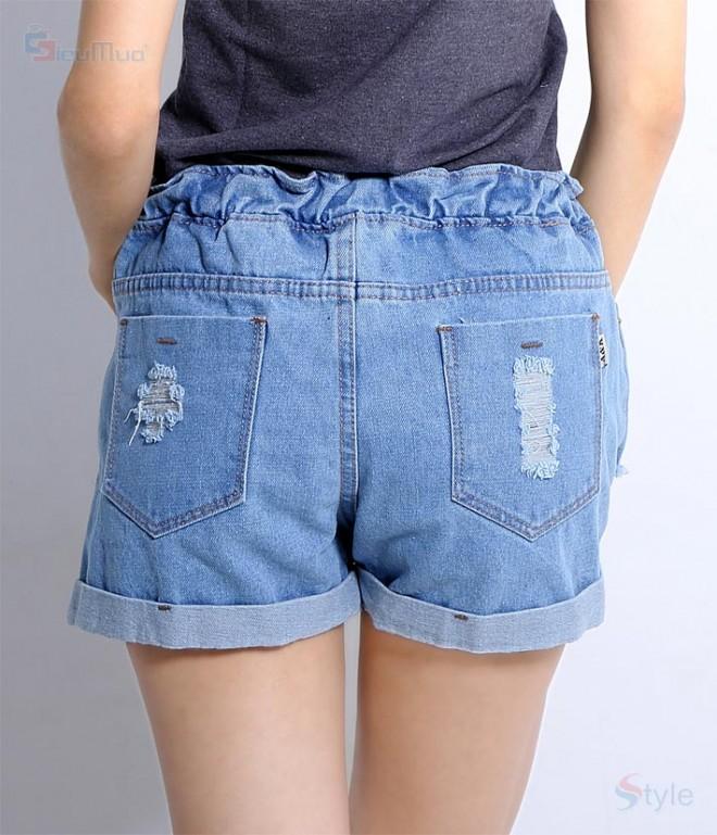 Bỏ sỉ Quần short nữ lưng thun 026- G70