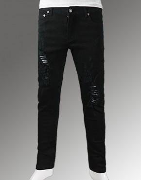 Bỏ sỉ Quần jean skinny nam đen rách cao cấp 80.19- G190