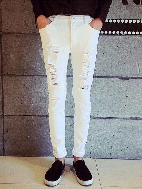 Quần jean nam trắng bỏ sỉ tại xưởng 09014