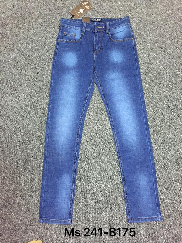 Bán sỉ quần jean nam đen rách MS241-h175