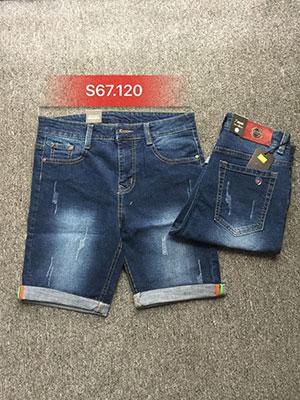 Quần sọt Jean nam xước S67.120