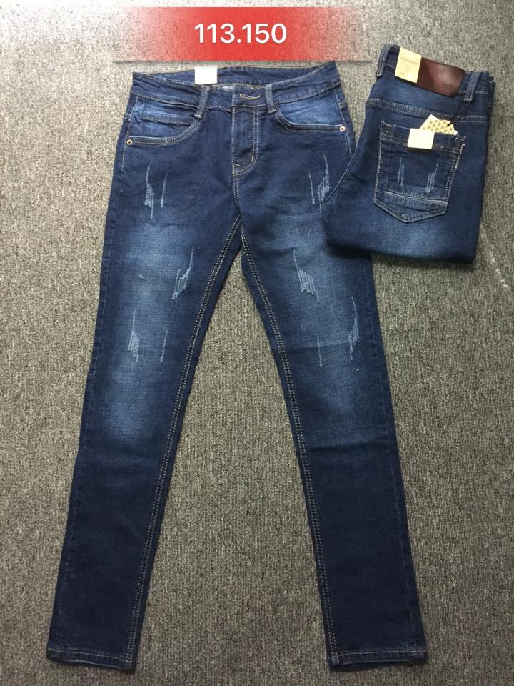 Quần jean nam skinny cào 113.150