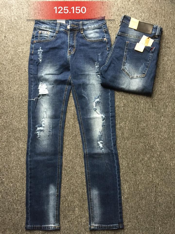 Quần jean nam skinny rách 125.150