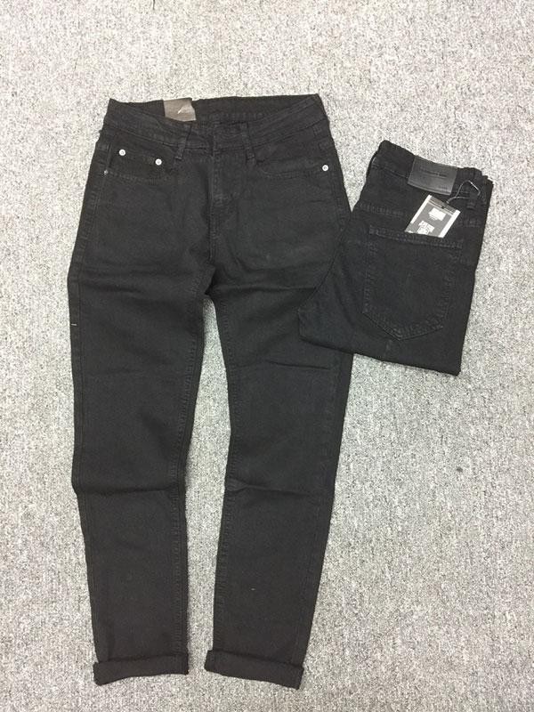Quần jean nam ống côn màu đen