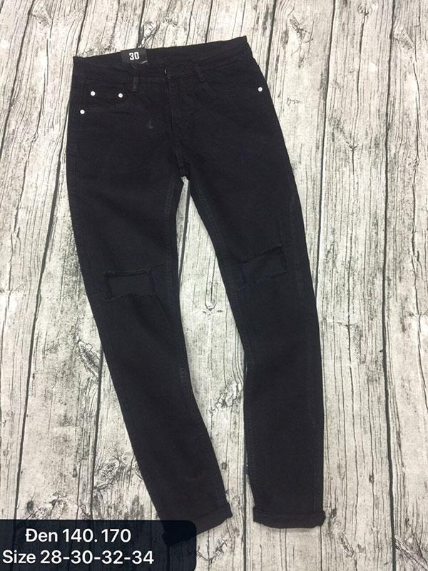 Quần jean nam đen 140