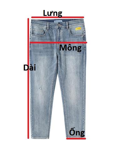 Quần jean dài nam QJ597