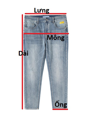 Quần jean dài nam rách R569.1