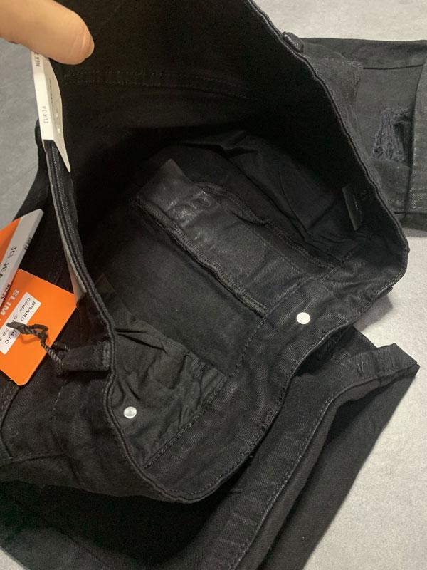 Quần jean sooc nam đen rách SR635.1
