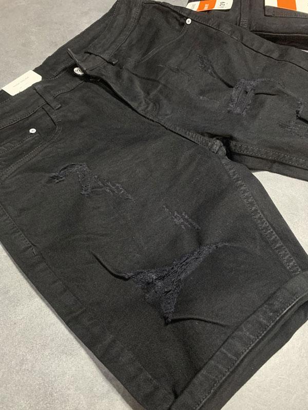 Quần jean sooc nam đen rách SR638.1